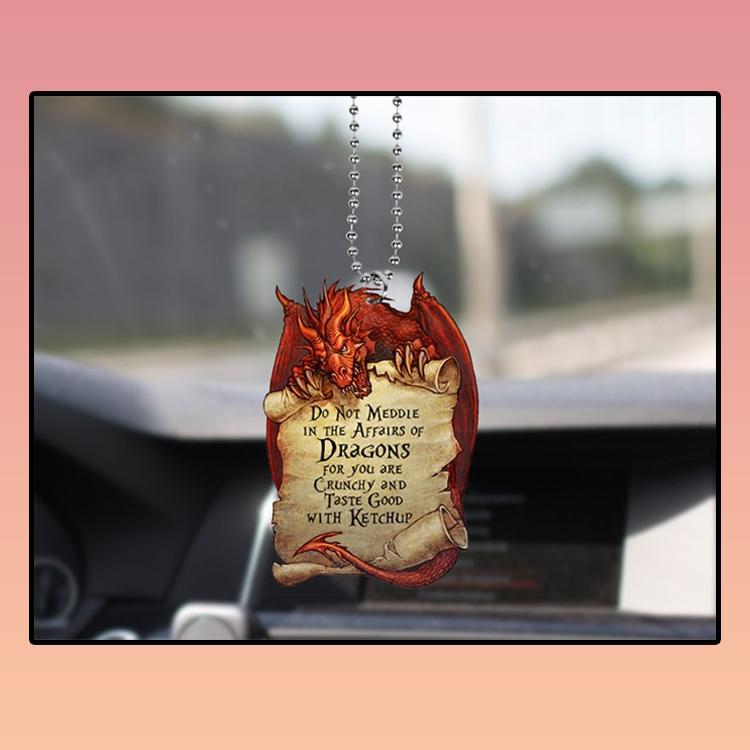 Red Dragon LOTR Quote Car Ornament2