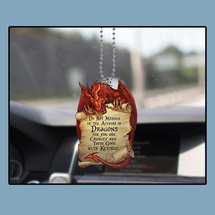 Red Dragon LOTR Quote Car Ornament4