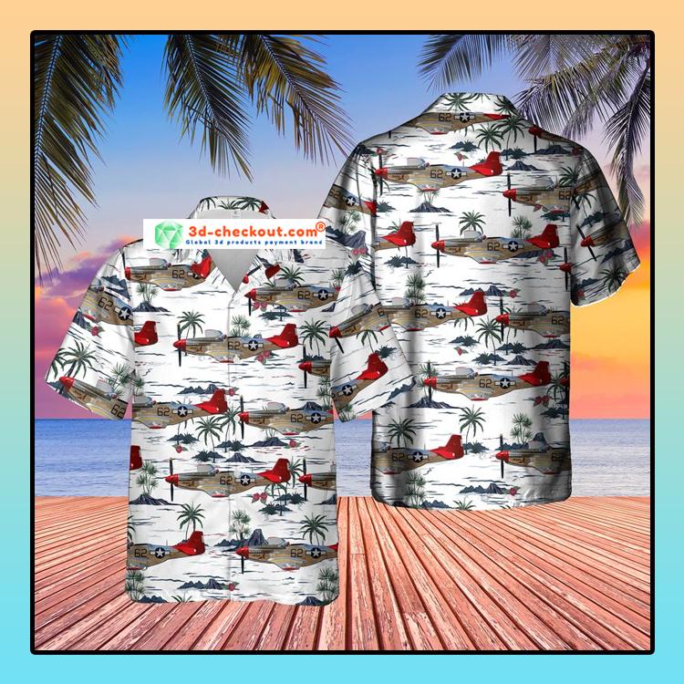 Red Tail Mustang Bunny Hawaiian Shirt1