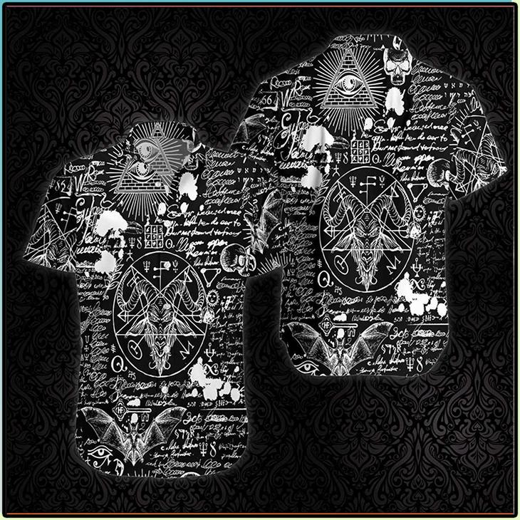 Seamless Occultism Satanic Goth Hawaiian Shirt3