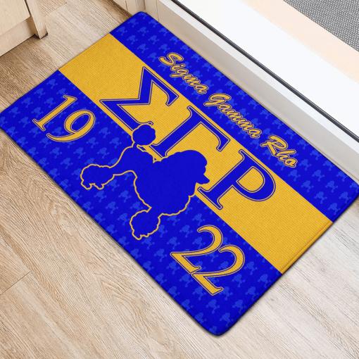 Sigma Gamma Blue Rho Sorority 1922 Doormat2