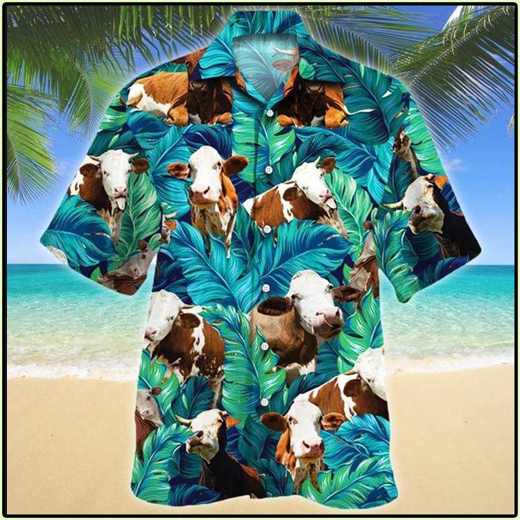 Simmental Cattle Lovers Hawaiian Shirt1
