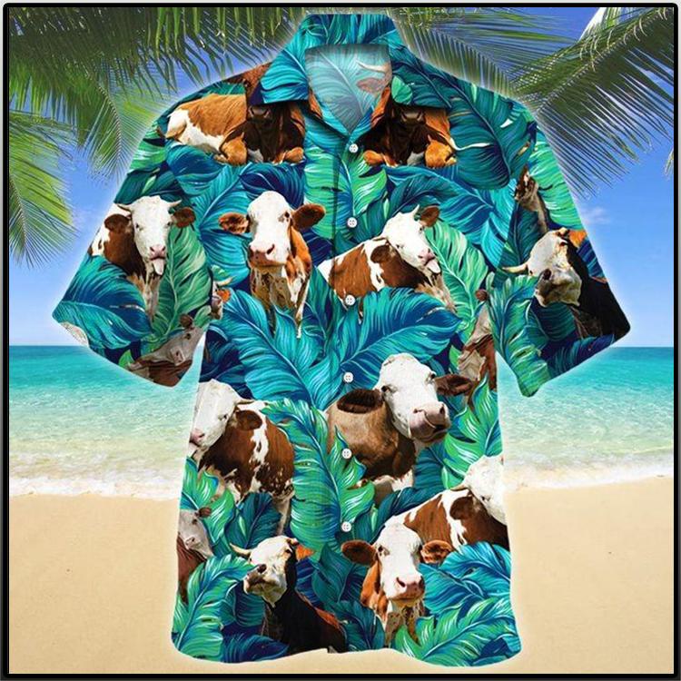 Simmental Cattle Lovers Hawaiian Shirt2