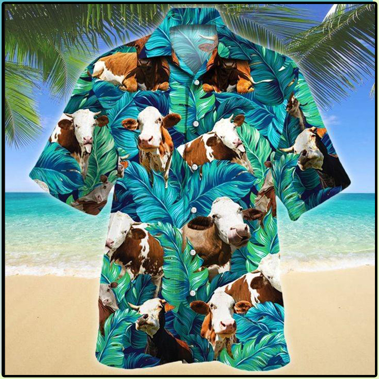 Simmental Cattle Lovers Hawaiian Shirt3