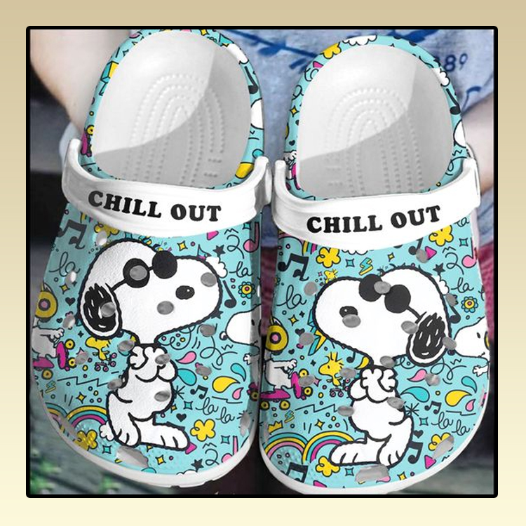 Snoopy Chill out crocs log crocband2