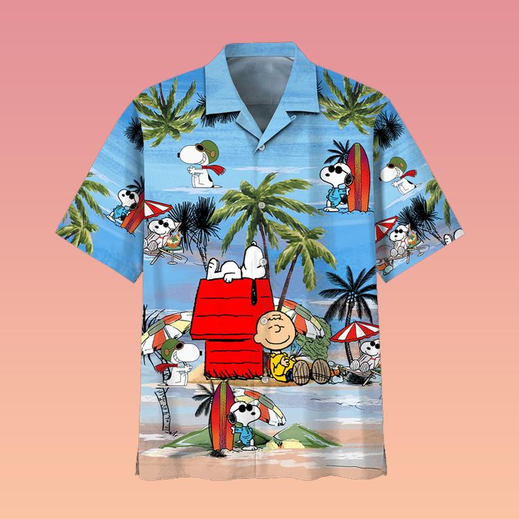 Snoopy Summer Time Hawaiian Shirt2