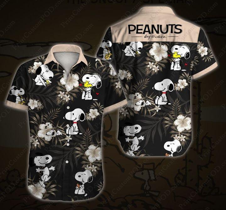 Snoopy and Charlie Brown Summer Hawaiian Shirt And Short