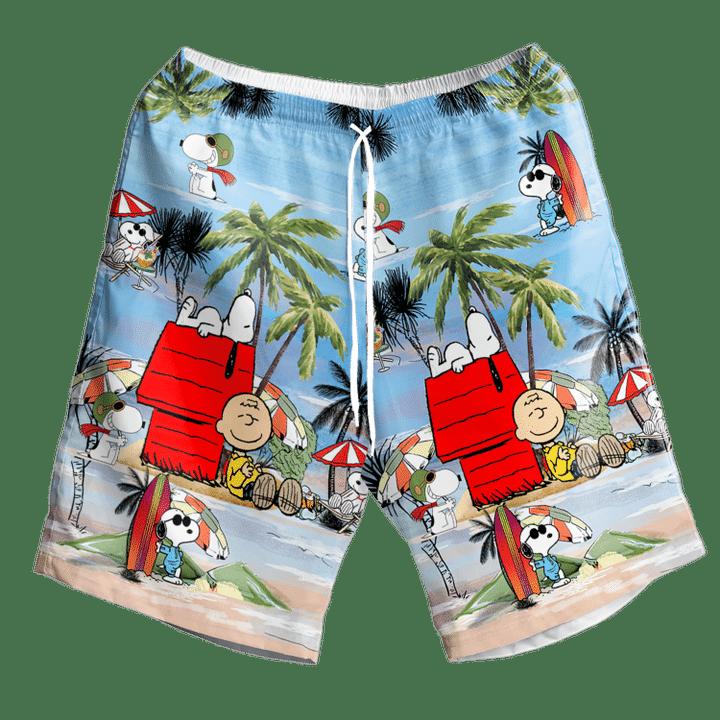 Snoopy and Charlie Brown Summer Hawaiian Shirt And Short2