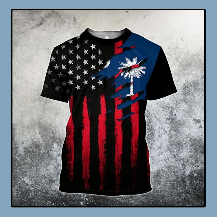 South Carolina flag america 3D T shirt4