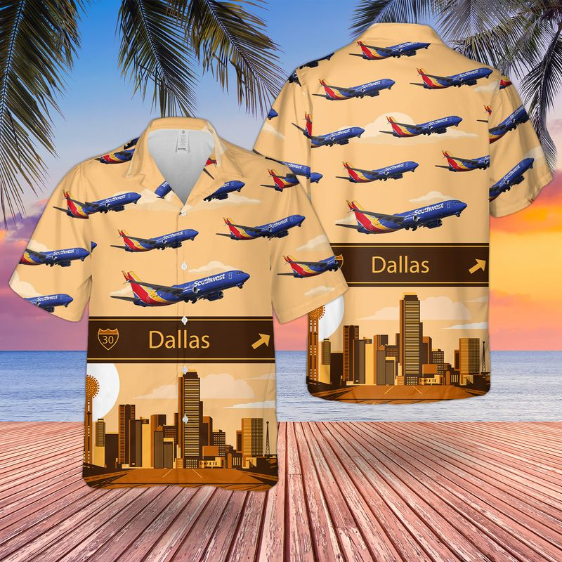 Southwest Airlines Boeing 737 800 Hawaiian Shirt 2