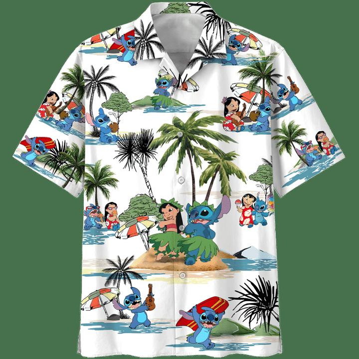 Stitch Summer Time Hawaiian Shirt