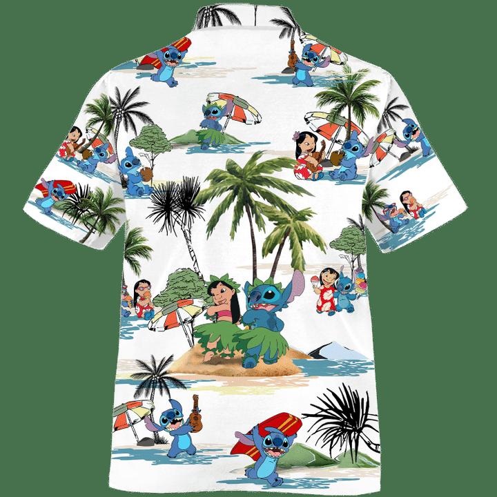 Stitch Summer Time Hawaiian Shirt1