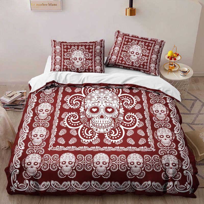 Sugar Skull Pattern Premium Bedding Set