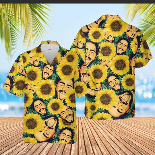 Sunflower Post Malone Hawaiian Shirt