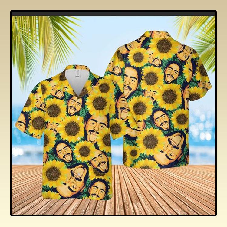 Sunflower Post Malone Hawaiian Shirt1