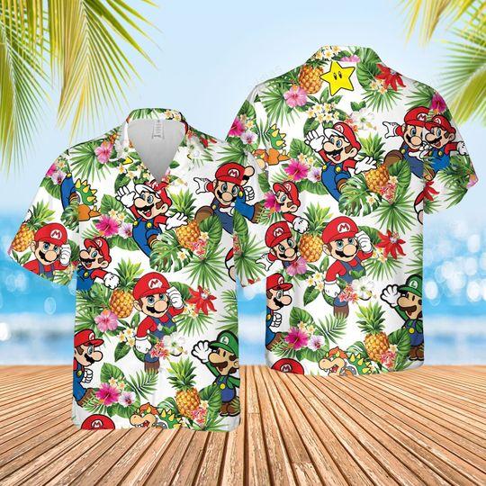 Super Mario Hawaiian Shirt and short