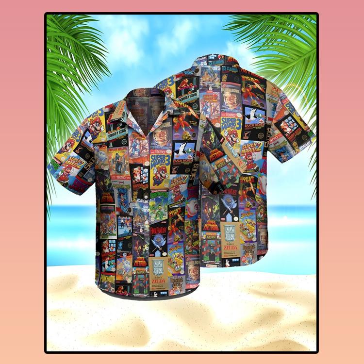 Super Mario Nintendo hawaiian shirt2