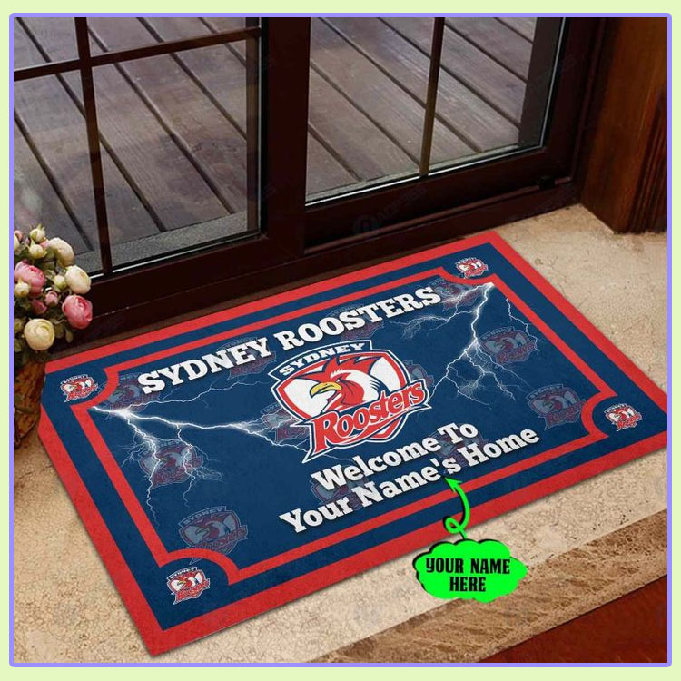 Sydney Roosters Personalized welcome to home Doormat1