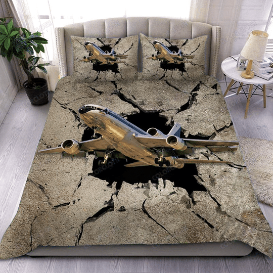 The sky is calling aircraft bedding set