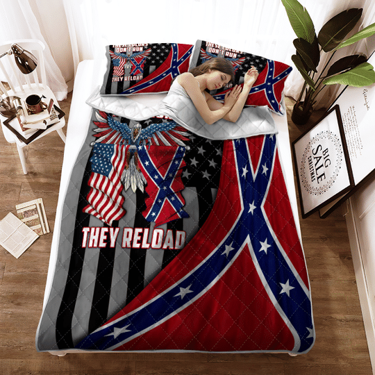 These colors dont run they reload Quilt bedding set1 1