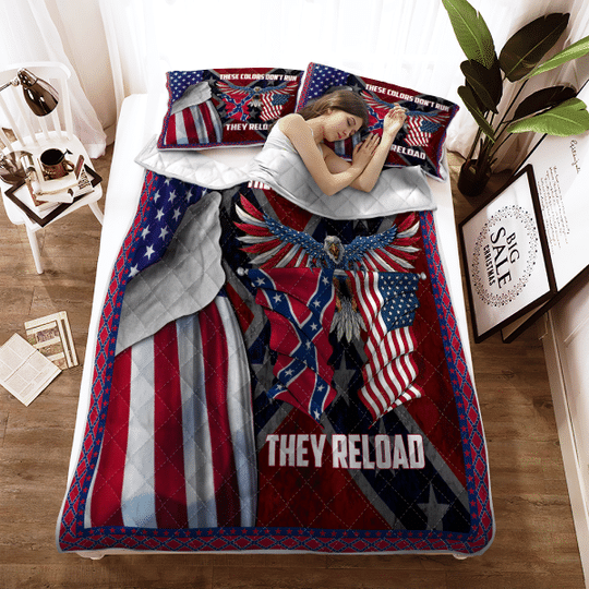 These colors dont run they reload Quilt bedding set1
