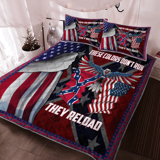 These colors dont run they reload Quilt bedding set2