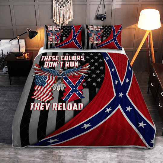 These colors dont run they reload Quilt bedding set3