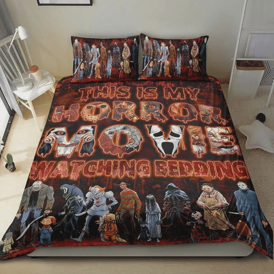 This Is My Horror Movie Watching Bedding Set