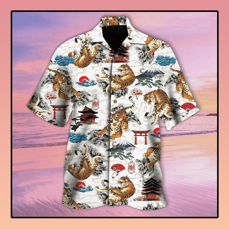 Tiger Japanese Tattoo hawaiian shirt2