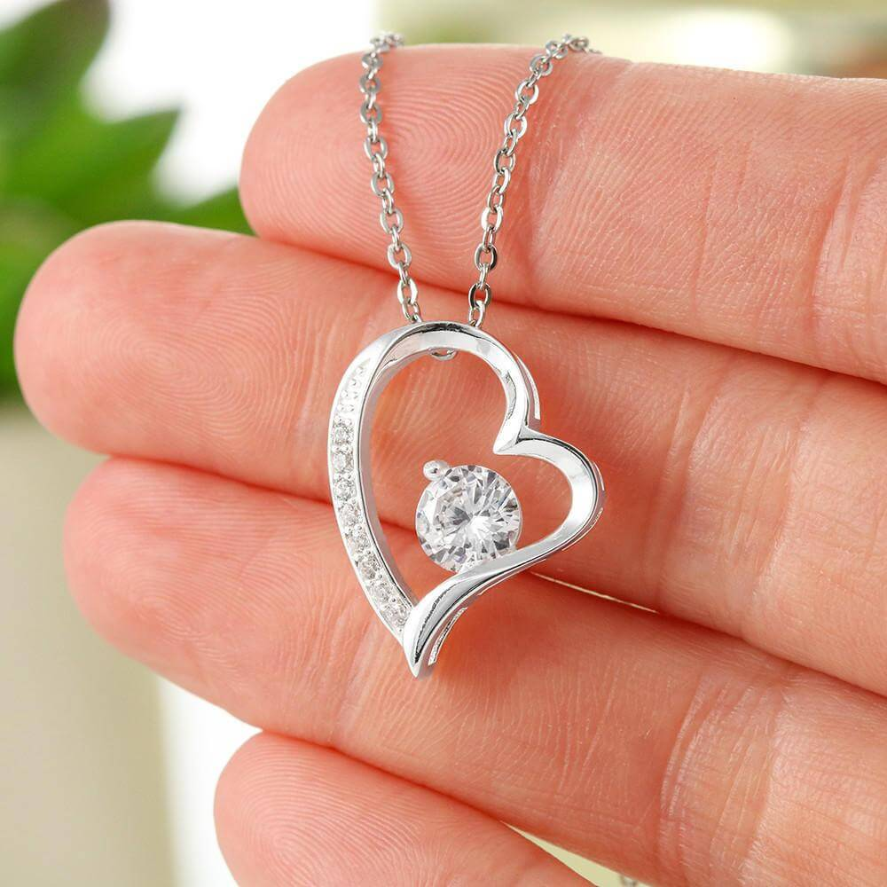 To My Granddaughter Love Grandma Heart NeckLace2