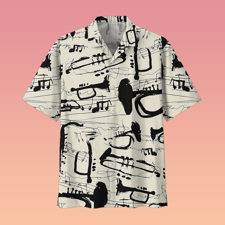 Trumpet hawaiian shirt3