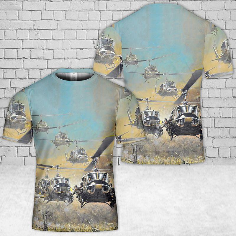 UH 1H Huey 3D T Shirt