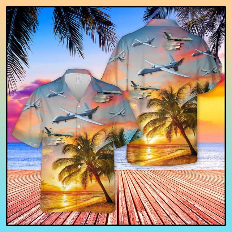 US Air Force General Atomics MQ 9 Reaper Hawaiian Shirt1