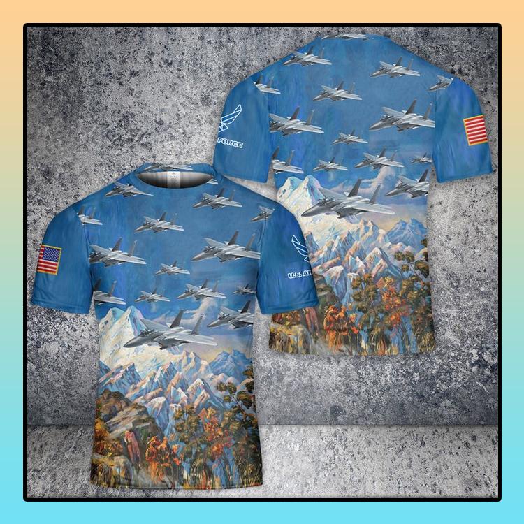 US Air Force McDonnell Douglas F 15 Eagle 3D T Shirt1