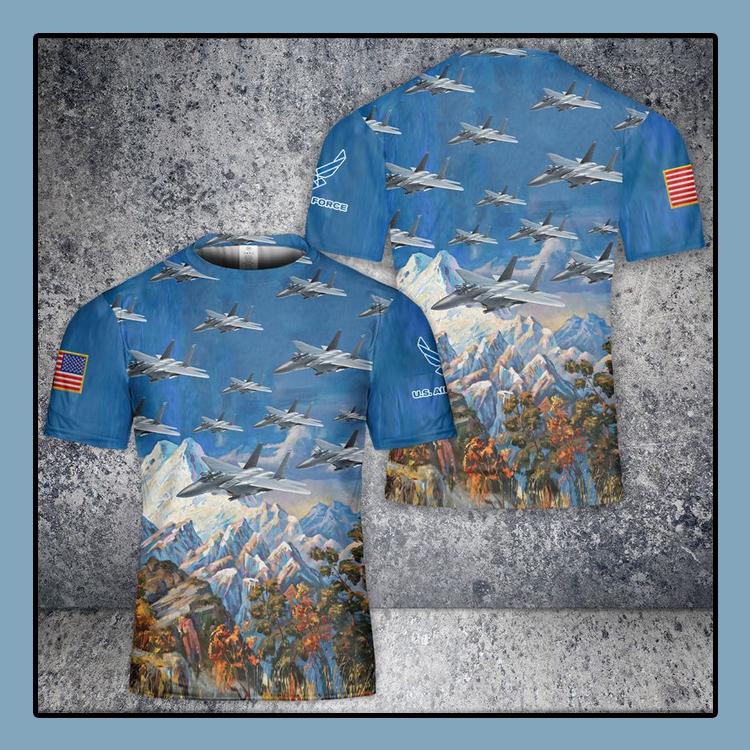 US Air Force McDonnell Douglas F 15 Eagle 3D T Shirt4
