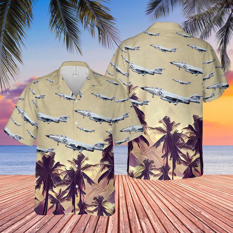 US Air Force McDonnell F 101 Voodoo Hawaiian Shirt