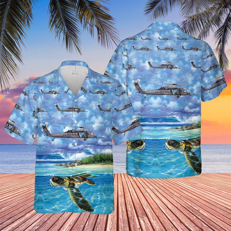 US Air Force New York Air National Guard Hawaiian Shirt