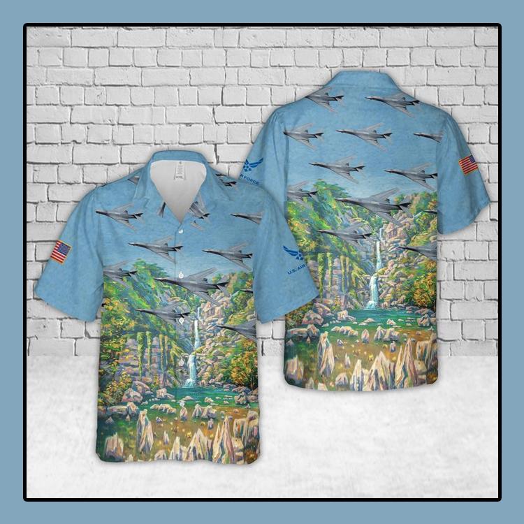 US Air Force Rockwell B 1 Lancer Hawaiian Shirt4