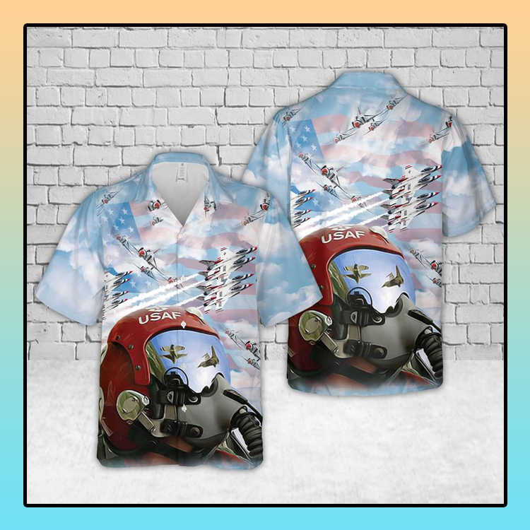 US Air Force Thunderbirds Pilot Hawaiian Shirt3