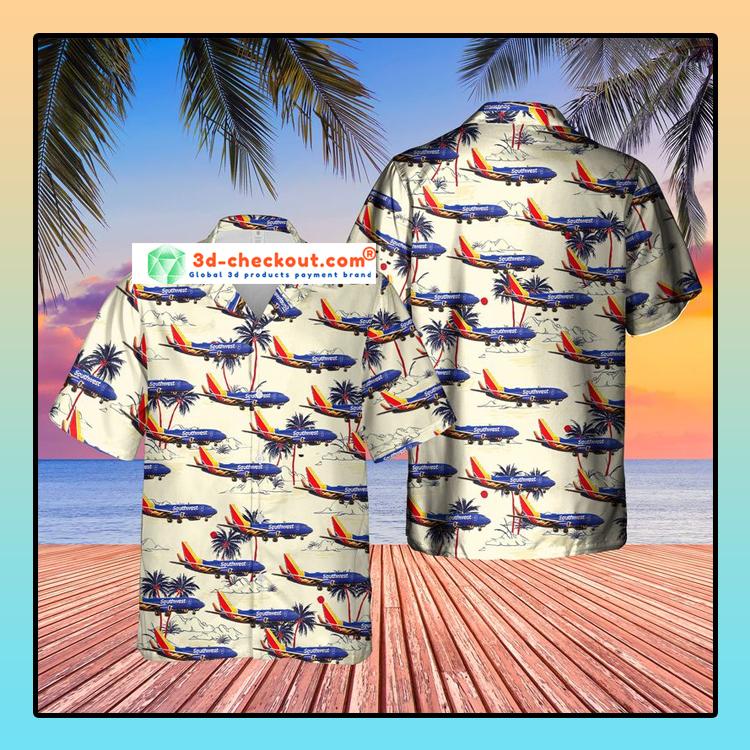 US Airlines 3 Boeing 737 7H4 Hawaiian Shirt