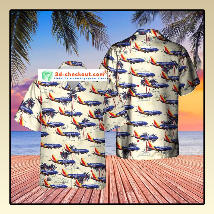 US Airlines 3 Boeing 737 7H4 Hawaiian Shirt3