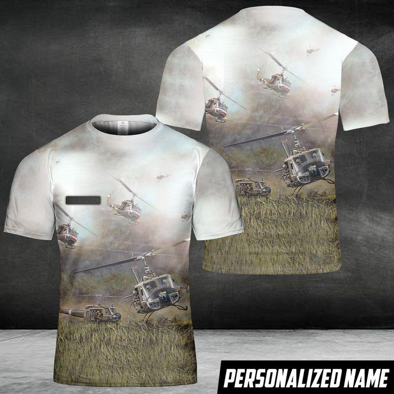 US Army Bell Custom Name 3D T Shirt
