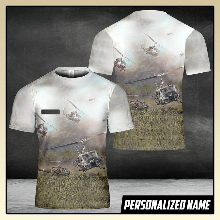 US Army Bell Custom Name 3D T Shirt3