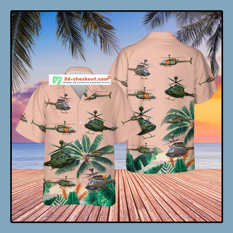US Army Bell OH 58 Kiowa Hawaiian Shirt And Shorts1
