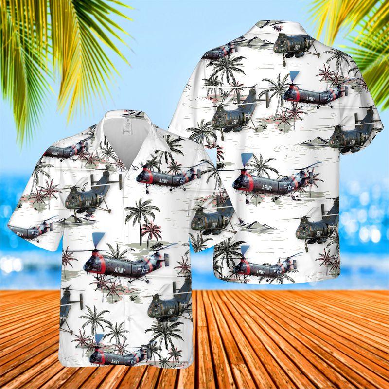 US Army Piasecki H 21 Hawaiian Shirt