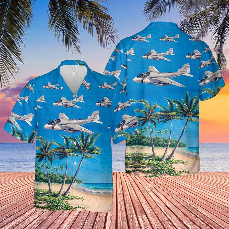 US Navy Grumman A 6 Intruder Hawaiian Shirt 1