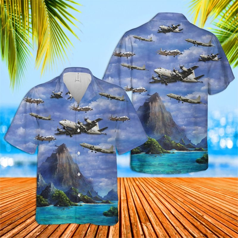 US Navy Lockheed P 3 Orion Hawaiian Shirt 1
