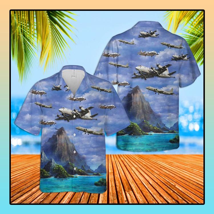US Navy Lockheed P 3 Orion Hawaiian Shirt1