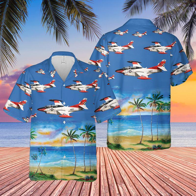 US Navy North American T 2C Buckeye Hawaiian Shirt 1