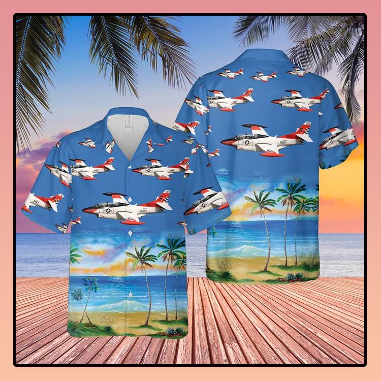 US Navy North American T 2C Buckeye Hawaiian Shirt3 1